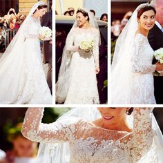 yoursweetremedy:  Details of the wedding dress of Princess Claire of Luxembourg, designed by Elie Saab