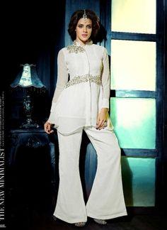 Precious White Faux Georgette Designer Pakistani Dress http://www.angelnx.com/Salwar-Kameez/Pakistani-Suits