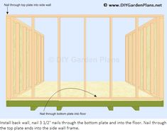 How to Build the Gambrel Shed Back Wall & Front Wall