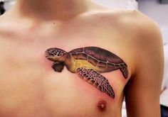 Hyperrealism sea turtle by Anna Yershova