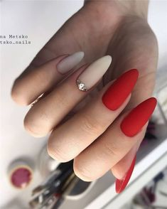 80 Latest Nail Art Trends & Ideas to Try for Spring 2019 - RuthannTaverni . - 80 Latest Nail Art Trends & Ideas to Try for Spring 2019 – RuthannTaverni - Latest Nail Designs, Latest Nail Art, Red Nails, Hair And Nails, Dark Nails, Nagel Blog, Nagellack Trends, Nagel Gel, Artificial Nails