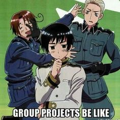 i am japan when it comes to group projects
