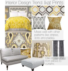 """Interior Design Trend: Ikat Prints"" by meggiechelle on Polyvore"