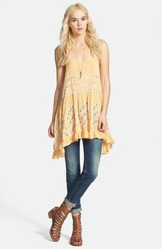 Free People Lace Trim Trapeze Tunic Dress available at #Nordstrom