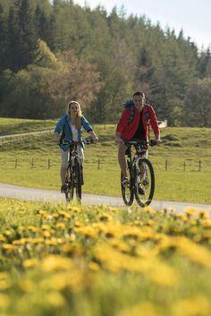 Radtour entlang bunter Wiesen im Naturpark Almenland - einfach herrlich! #almenland #naturparkalmenland #wiesen #blumen #radfahren Foto (c) B. Bergmann Bicycle, Biking, Hiking, Summer, Simple, Flowers, Bicycle Kick, Bike, Trial Bike