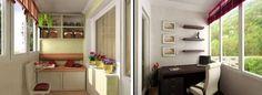 ambientes pequeños, balcones internos