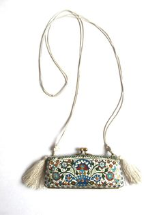 Vintage Cloisonne Purse Necklace