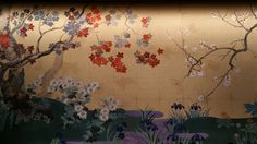 Kabuki background pattern at the Tokyo National Theatre