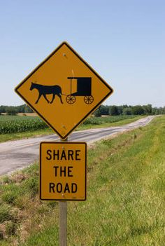 When driving through Lancaster County, you will come across horse and buggies along the country roads and highways. Please make special allowances.    If you find yourself behind one of these slow-moving vehicles, it is very rude to honk your horn.