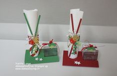 Today I present to you the place cards we made in atel Xmas Table Decorations, Decoration Table, Deco Table Noel, Christmas Cards, Christmas Ornaments, Stampin Up, Diy And Crafts, Place Cards, Presents