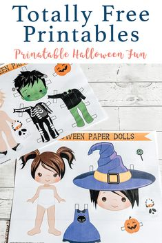 Download these adorable printable Halloween Paper Dolls from Everyday Party Magazine #TotallyFreePrintables #Halloween #PaperDolls