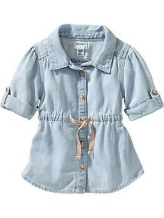 Light-Wash Denim Tunics for Baby | Old Navy - 18-24 months - $19.94