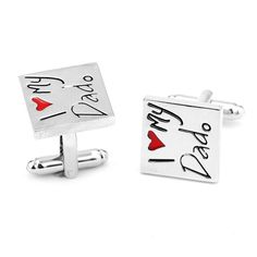 i Love My Dad Enamel Cufflinks Button Father 's Day Gift Fashion Movie Jewelry Film Novelty 2017 New Designer For Men And 5D5