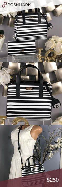 Kate Spade Anissa Putnam Drive Satchel Crossbody Kate Spade Anissa Putnam Drive Satchel Crossbody Bag  NWT...Brand New Color: Black and white stripes  *Wallet sold separately in my closet kate spade Bags Crossbody Bags