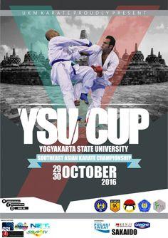 "South East Asian Karate Championship Karate YSU CUP 2016  South East Asian Karate Championship ""Yogyakarta State University (YSU) CUP"" 2016  Waktu : start from 08:00 WIB Tempat : GOR UNY CP : 087838806815 (UKM Karate); 083869309551 (Tri); 0819033727088 (Candra)"
