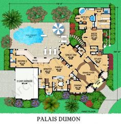 Palais Dumon - House Plan - Italian - First Floor