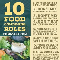 10 Food Combining Rules PLUS a RECORDED VIDEO on the topic and a Q & A Session www.EmmaSara.com