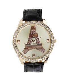Black  Eiffel Tower Watch  #ohnineone