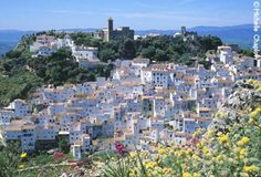 """One of the """"white towns"""" near Malaga, Spain on the Costa del Sol"""