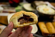 The famous BBQ Pork Bun - Visiting the World's Cheapest Michelin Star Restaurant: Tim Ho Wan, Hong Kong | packmeto.com