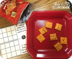 Students practice area with yummy Cheez-It snacks.