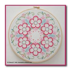 9 Embroidery Projects for Beginners: Daisy Wreath