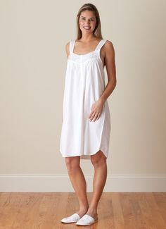 b3fe445224b Nothing beats lounging in crisp white cotton. Shop the Sandy Shores ladies  nightgown at jacarandaliving