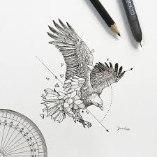 Image result for red tailed hawk geometric tattoo