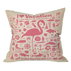 Anderson Design Group Flamingo Lounge Pillow