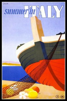 Summer in Italy #vintage #travel #poster