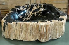 Www.deeliving.com#petrified#wood#sink#