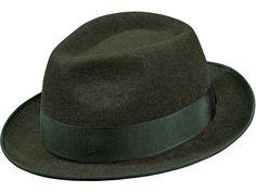 Wollfilz-Hut in Elementary Qualität, Ripsband, wasserfest;  Farbe: dunkelbraungrau melange Elegant, Hats, How To Wear, Fashion, Hat, Fedora Hat, Headboard Cover, Get Tan, Color