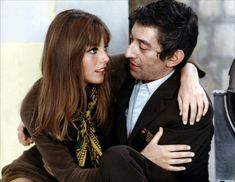 Serge Gainsbourg and Jane Birkin in Slogan directed by Pierre Grimblat, 1969.