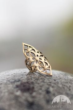 "Cut-through melchior princess ring. Great jewelry piece from our medieval fantasy collection ""Lost and Found Princess"" Flat-price worldwide shipping"