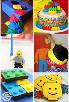 There are so many fun LEGO ideas for birthday parties. From making brick themed snacks to playing games with your favorite LEGO blocks, we've found the best LEGO party ideas online to share with you! LEGO Party Ideas Make LEGO friendship bracelets to give to party guests. Use tablecloths and paper plates to turn doors into LEGO bricks! via South Shore Mamas Put a LEGO sign on the door to announce the birthday kid's age! via Planted by Streams Make a cupcake stand out of LEGO bricks. v...