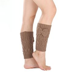 Leg Warmers, Mosunx(TM) Women Bowknot Crochet Knitted Stocking Boot Cover Socks => Discover this special product, click the image : Fashion for Christmas