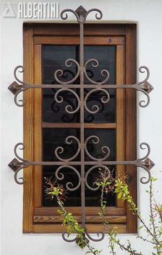 Windows, doors, and sliders in wood and bronze clad - for your home.Albertini: Windows, doors, and sliders in wood and bronze clad - for your home. Iron Windows, Iron Doors, Windows And Doors, Burglar Bars, Window Bars, Window Grill Design, Iron Window Grill, Wrought Iron Decor, Wrought Iron Gates