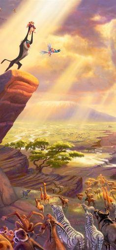 Art Thomas kinkade  Disney The Lion King