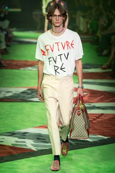 Alessandro Michele presented his Spring/Summer 2017 collection for Gucci during Milan Fashion Week.