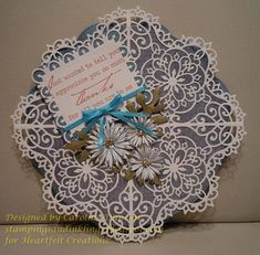 Heartfelt Creations | Decorative Blossom Doily Card