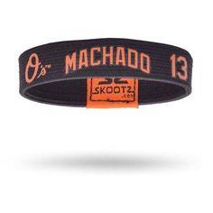 SkootZ Wristband, Orioles, Manny Machado, Size: Medium