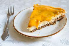 vegan mango cheesecake slice