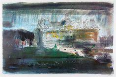 ✽  john piper - 'vaux le vicomte'  -   colour print   -  1972