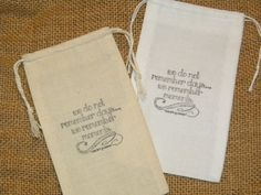 25 Wedding Favor Bags Muslin 3 x 5 We Do by TearsOfJoyCollection, $25.00