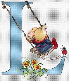 Seraphina Alphabet Letter L Cross Stitch Kit