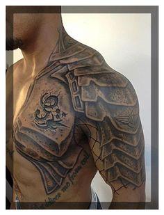 Half-sleeve & Shoulder tattoo - http://99tattoodesigns.com/half-sleeve-shoulder-tattoo/: