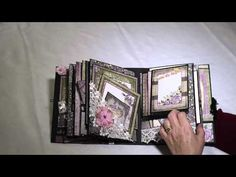 A quick video to show my Heartfelt Creations Raindrops on Roses album inspired by a Shellie Geigle tutorial as found on You Tube Mini Albums, Mini Scrapbook Albums, Scrapbook Pages, Baby Mini Album, Paper Crafts Origami, Paper Crafting, Altered Book Art, Mini Album Tutorial, Mini Photo
