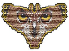 Owl Eyes butterfly Amulet or Pendant by Megan's Beaded Designs