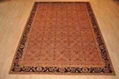 DECORATIVE 8x11 ft. Persian handmade oriental copper color brown orange rug