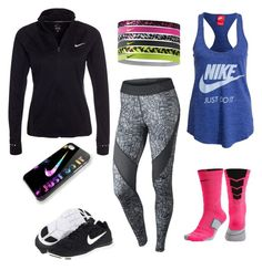 """""""Running"""" by hjpnosser ❤ liked on Polyvore featuring moda y NIKE"""